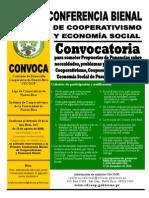 Convocatoria - Primera Conferencia Bienal de Cooperativismo y Economía Social