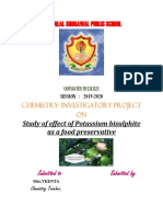Sunny Project of Class 12 Chemistry