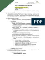 formato para requerimiento de servicios