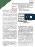 Decreto Supremo N° 020-2019-MTC