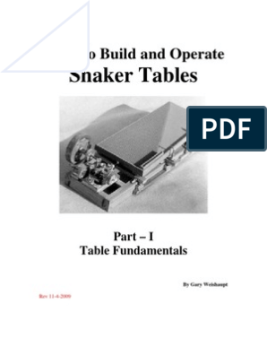 Superb How To Build And Operate Shaker Tables Bearing Mechanical Home Interior And Landscaping Ferensignezvosmurscom