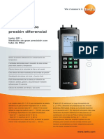 Manual de Manómetro de Presión Diferencial TESTO