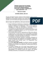 Informe General Proyecto PAFEM 2019