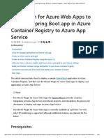Spring boot app deployment in Azure