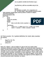 object oriented Programming Docu