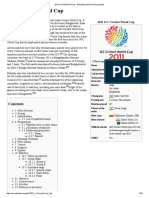 2011 Cricket World Cup - Wikipedia, The Free Encyclopedia