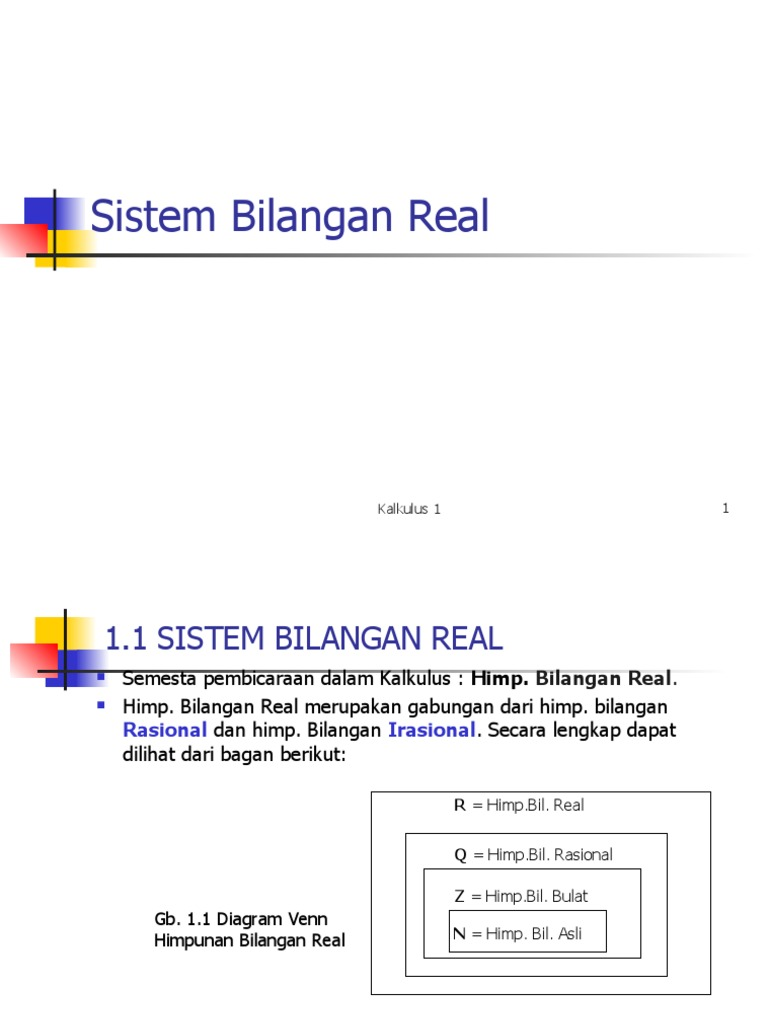Bab1 sistem bilangan real ccuart Image collections