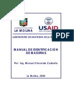 Manual de Identificacion anatomica de especies forestales