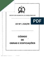 LEI Nº 1520-09 Código Obras