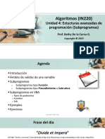 2019-2 Algoritmos - UNIDAD 4 - Subprogramas AV