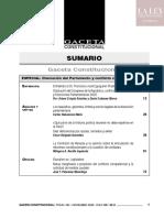 Sumario deGaceta Constitucional & Procesal Constitucional 143