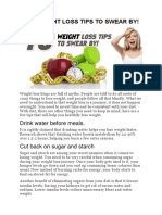 Ten Weight Loss Tips to Swear By - DMoose Fitness