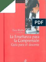 Blythe Tina - La Enseñanza Para La Comprension - Guia Para El Docente