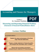 Week 1 Fundamentals and the Statement of Financial Position - The Balance Sheet