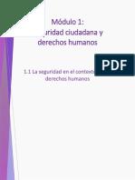 1.1 La Seguridad en El Contexto de Los Derechos Humanos
