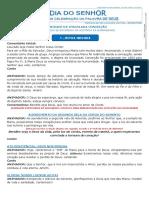 FOLHETO DA CELEBRAÇÃO DA PALAVRA DA IMACULADA CONCEIÇÃO 2019