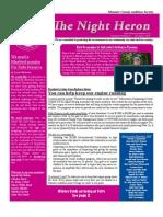 Nov 2010 Night Heron Newsletters, Manatee County Audubon Society