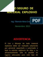 Uso Seguro de Explosivos 081113