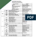 Book List 2016-17