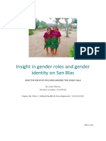 Insights in gender roles and gender identity on San Blas and the issue of HIV/AIDS among the Kuna Yala