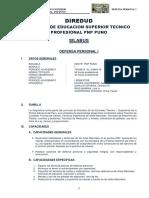 Syllabus Desarrollado de Defensa Personal i Semestre 1