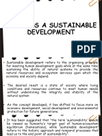 Towards a Sustainable Development