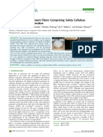 Dry-Spun Single-Filament Fibers Comprising Solely Cellulose Nanofibers from Bioresidue