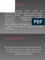 Sex education notes