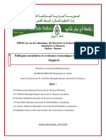 Croissance Economique Econometrie Donnees Panel Politique Monetaire Stabilite Prix Cresdibilite CPM Maghreb.doc