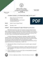 2019-7 Municipal Prosecutor Directive