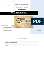 Análisis Musical de Stella Splendens
