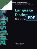 Mcnamara Tim Language Testing