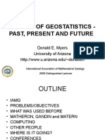 History of Geostatistics