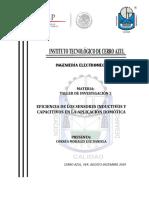 Eficiencia de Los Sensores Capacitivos e Inductivos en La Aplicación Domótica