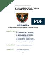 Trabajo Aplicativo de Administracion General Tumbes