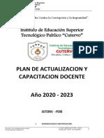 Plan de Capacitacion Docente