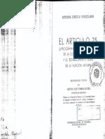 Arturo Luis Torres-Rivero-El Artículo 75 Constitución 1961