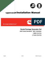 CUMMINS 920KW Operator & Installation manual