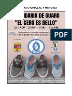 """Proyecto y Memoria Solidaria """"El Cero Es Bello"""" 2019"""