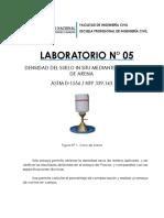 LABORATORIO N° 05 DENSIDAD DE CAMPO-CONO DE ARENA.docx