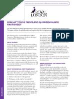 511rf Risk Attitude Profiling Questionnaire Factsheet