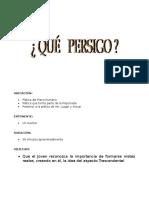 07 Qué Persigo