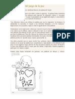 Actividad Paloma de La Paz