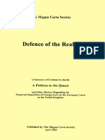 DEFENCE OF THE REALM - A Summary of Evidence to Justify a Petition to the Queen