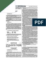 2001.03.04. DS 005-2001-Jus. Crean Las Comisiones Provinciales de Formalización de La Propiedad Informal