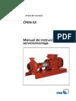 Pc-221, Pc-222 Manual Bomba Ksb Cpkn-sx