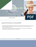 Oriflame q1 2019 Investor Presentation