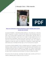 Părintele Gheorghe Calciu - Pilda talantilor