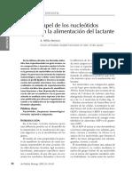 Papel de Los Nucleotidos en La Alimentacion Del Lactante