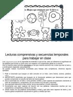 Lecturas comprensivas y secuencias temporales para trabajar en clase